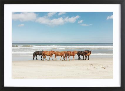 Car Horses Poster in Wooden Frame | JUNIQE UK