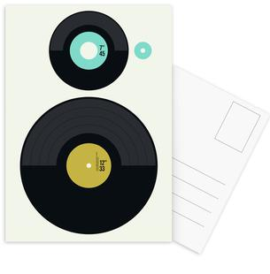 Grammophone Love as Postcard Set by Natalie Foss | JUNIQE UK