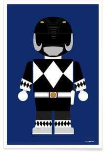 Power Ranger Toy Black