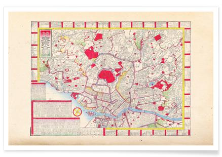 London In England Map.London Colton Map Or Plan Of London England Poster Juniqe