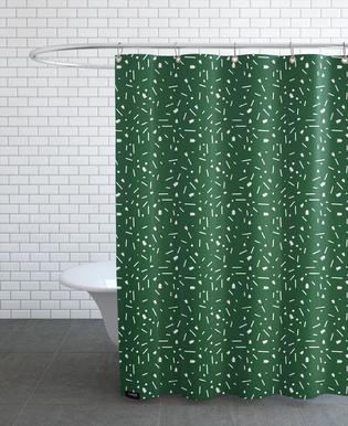 Abstrakt Grün Duschvorhang