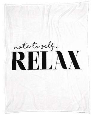 Note To Self Relax Plaid