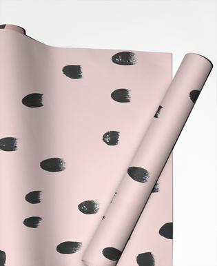 Dots On Pink Gift Wrap