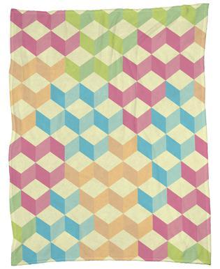 SugarCubes Geometric Pattern Fleece Blanket