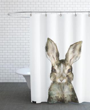 Little Rabbit As Shower Curtain By Amy Hamilton