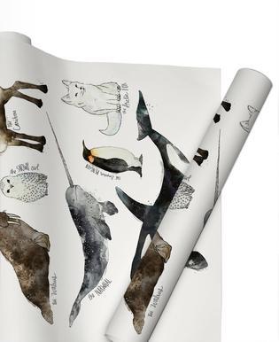 Arctic and Antarctic Animals Papier cadeau