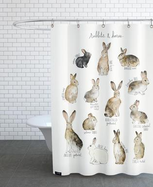 Rabbits and Hares Shower Curtain