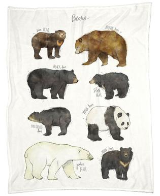 Bears -Fleecedecke