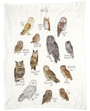 Owls -Fleecedecke