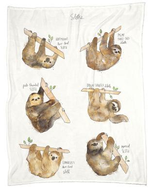 Sloths -Fleecedecke