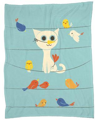 Bird Watching Fleece Blanket