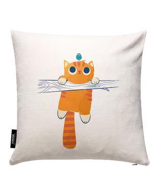 Fat Cat Little Bird Cushion Cover
