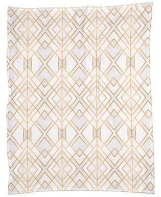 Golden Geo Fleece Blanket