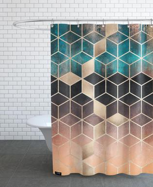 Ombre Dream Cubes   Elisabeth Fredriksson   Shower Curtain
