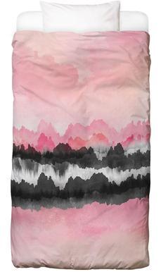 Pink Mountains Linge de lit enfant