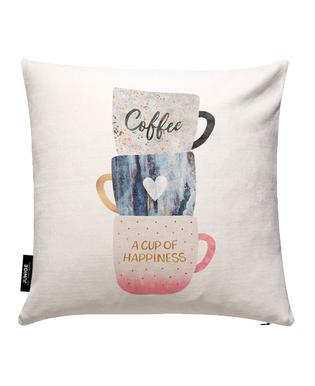 A Cup of Happiness Housse de coussin