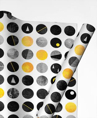 Yellow and Black Gift Wrap