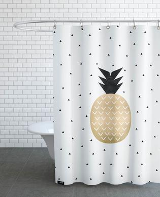 Golden Pineapple Rideau de douche