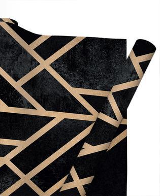 Art Deco Black Papier cadeau