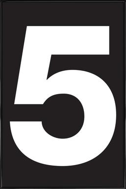 The 5 poster affiche encadrée