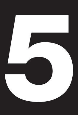 The 5 poster tableau en verre