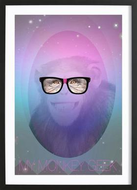 My Monkey Geek Framed Print