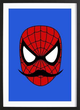 Spider Stache Framed Print