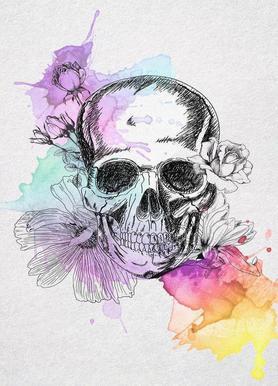 Color Skull Impression sur toile