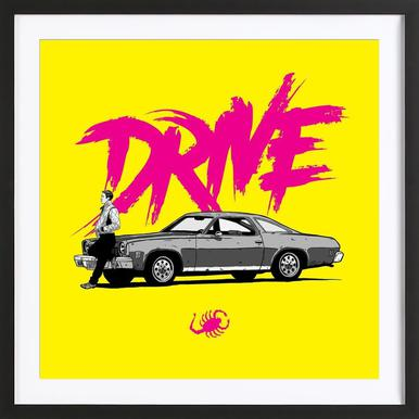 Drive - Yellow Framed Print