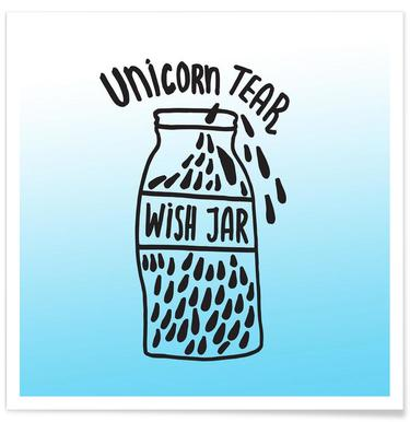 Unicorn Tear Wish Poster