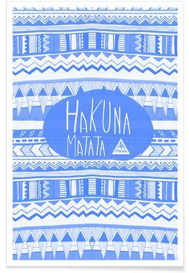 Hakuna Matata Navy Blue Poster