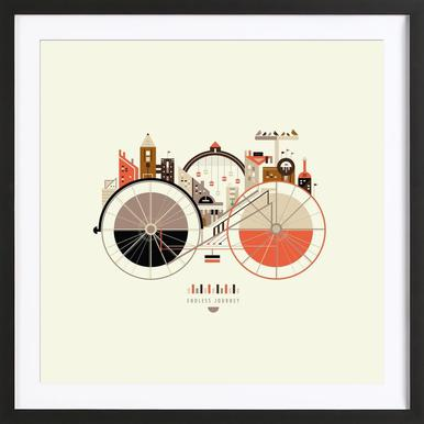 Free Cycle Framed Print