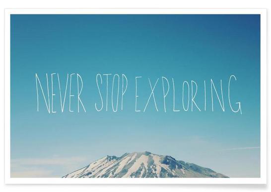 Never Stop Exploring Poster