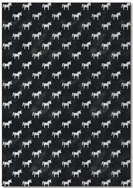 Unicorn Party Black notitieblok