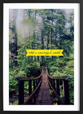 What a Wonderful World -Bild mit Holzrahmen