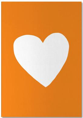 Autumn Heart Notepad