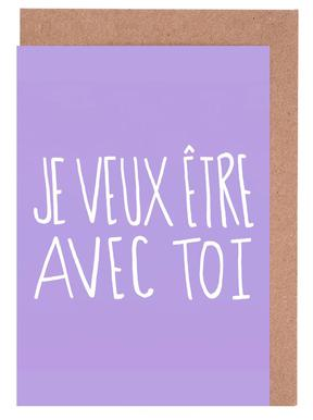 Je Veux Greeting Card Set