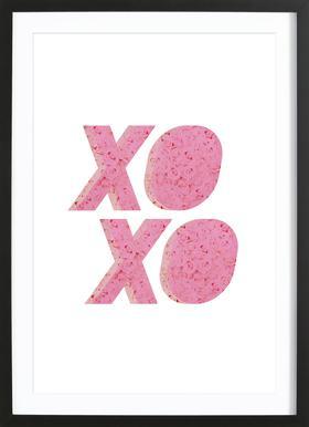 XO Roses ingelijste print
