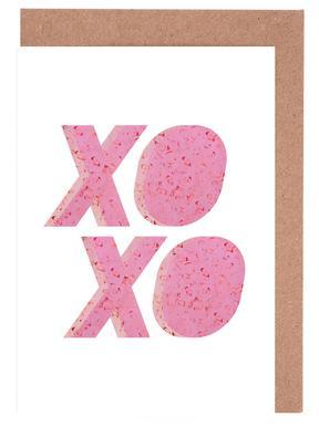 XO Roses Set de cartes de vœux