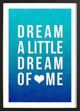 Dream Blue Poster im Holzrahmen