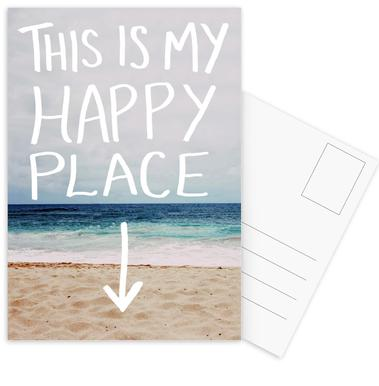 Happy Place Postcard Set