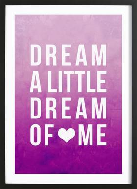 Dream Pink Poster im Holzrahmen