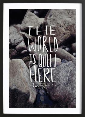 Quiet Poster in Wooden Frame