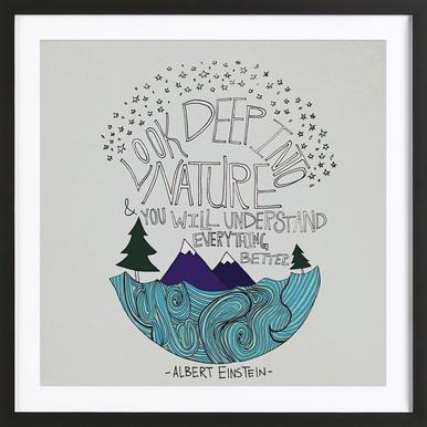 Einstein Nature Poster im Holzrahmen
