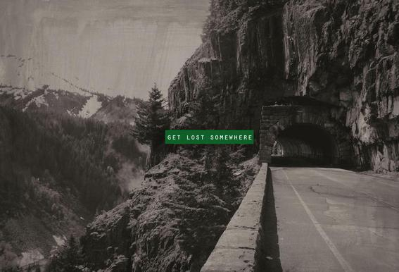 Get Lost Somewhere Acrylglasbild