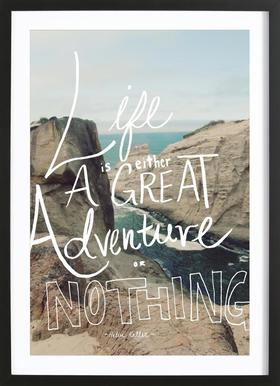Great Adventure Poster in Wooden Frame