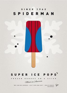 My Superhero Ice Pop - Spiderman Canvas Print