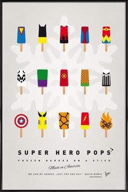 My Superhero Ice Pop - Universe affiche encadrée