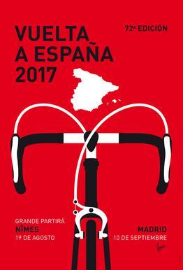 Resultado de imagen de cartel vuelta españa 2017