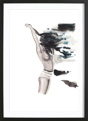 She is the High Tide Poster in Wooden Frame